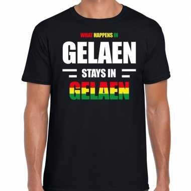Geleen/gelaen verkleedkleding / t shirt zwart heren