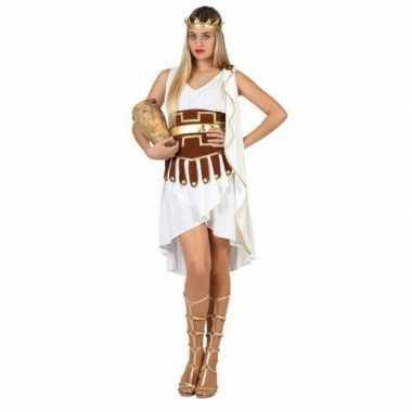Griekse godin verkleed verkleedkleding/jurk wit/goud voor dames