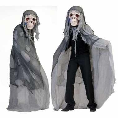 Grijs doodshoofd spook verkleedkleding