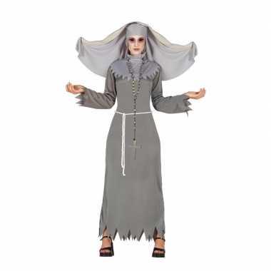 Grijze geest nonnen verkleedkleding voor dames