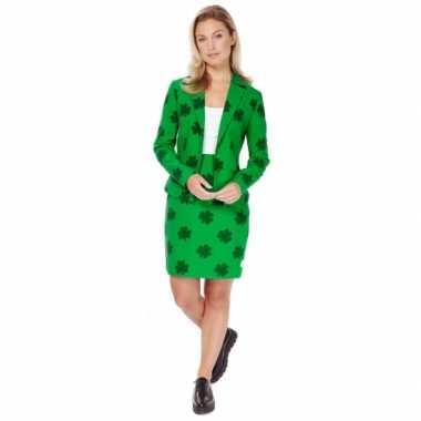 Groen dames verkleedkleding st. patricks day