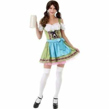 Groen oktoberfest jurkje/dirndl verkleedkleding voor dames