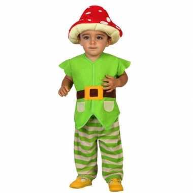 Groene kabouter verkleedkleding voor peuters