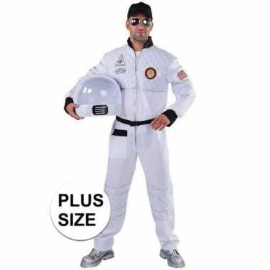 Grote maat astronaut verkleed verkleedkleding voor heren