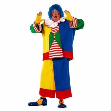Grote maat clowns verkleedkleding voor heren