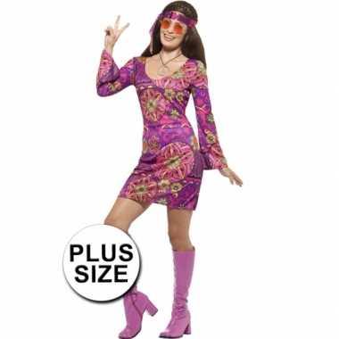 Grote maat feest hippie verkleedverkleedkleding voor dames
