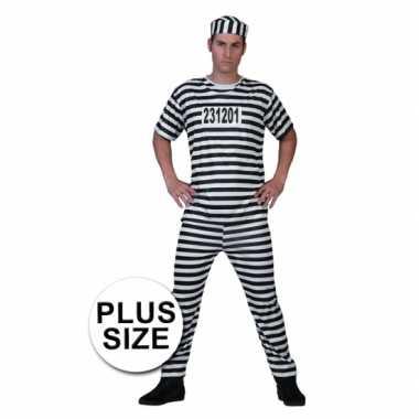 Grote maat gevangenen verkleedkleding