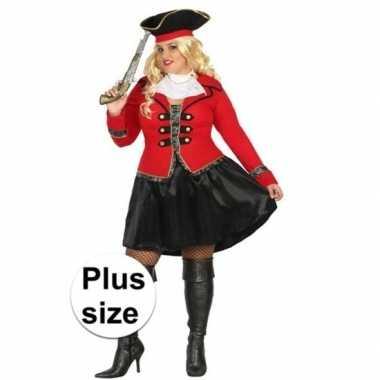 Grote maat kapitein piraat grace verkleed pak/verkleedkleding voor da