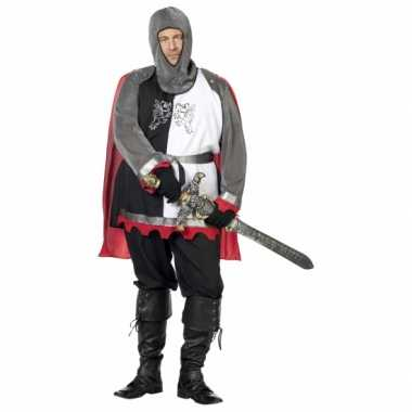 Grote maat middeleeuwse krijgsman verkleedkleding