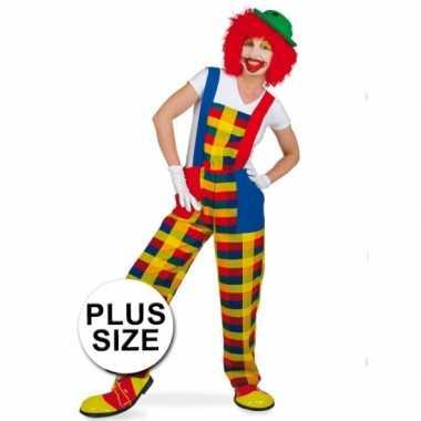 Grote maten clown pebbi verkleedverkleedkleding voor volwassenen