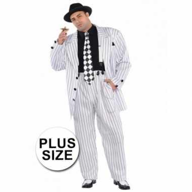 Grote maten gangster verkleedkleding voor heren