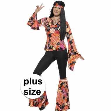 Grote maten hippie verkleedkleding willow voor dames
