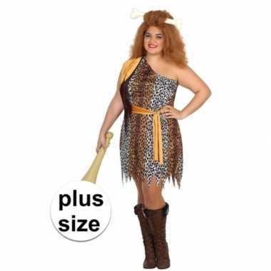 Grote maten holbewoonster verkleedkleding voor dames