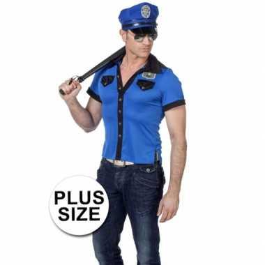 Grote maten politie verkleedkleding