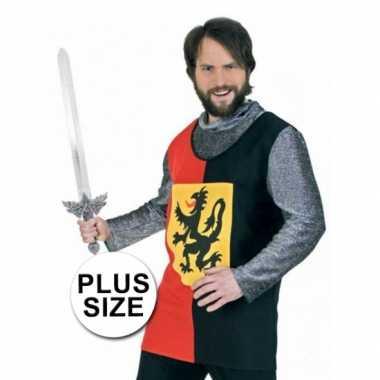 Grote maten ridder verkleedkleding