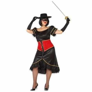Grote maten spaanse gemaskerde vrouw verkleed verkleedkleding voor da