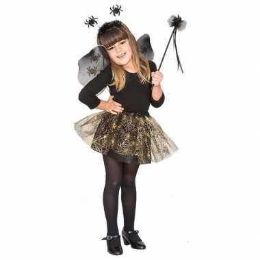 Halloween halloween verkleedkleding heksenset zwarte spin voor meisje