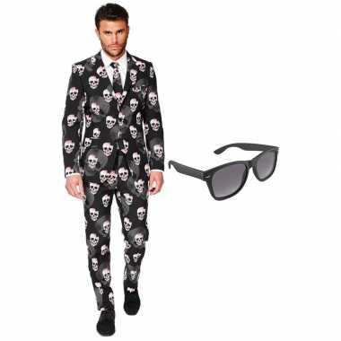 Halloween heren verkleedkleding maat 56 (xxxl) met gratis zonnebril