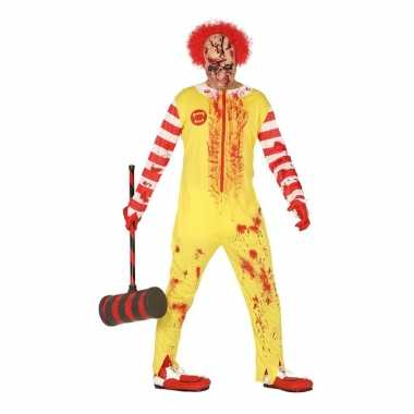 Halloween horror clown ronald verkleed verkleedkleding voor heren