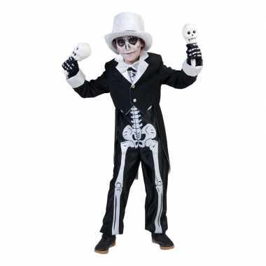 Halloween skelet verkleedkleding voor jongens