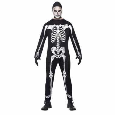 Halloween skelet verkleedkleding voor volwassenen