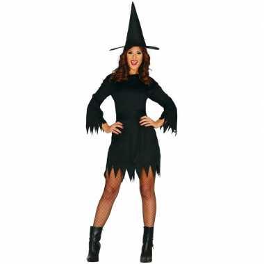 Halloween zwart heksen verkleedkleding budget voor dames