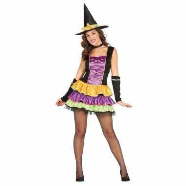 Halloween zwart heksen verkleedkleding voor dames