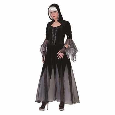 Heksen verkleedkleding jurk zwart