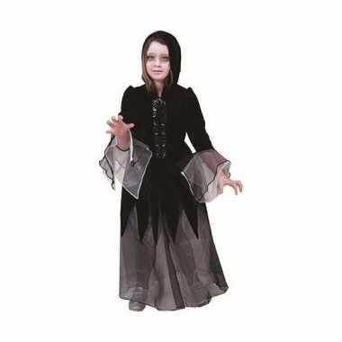Heksen verkleedkleding jurkje zwart
