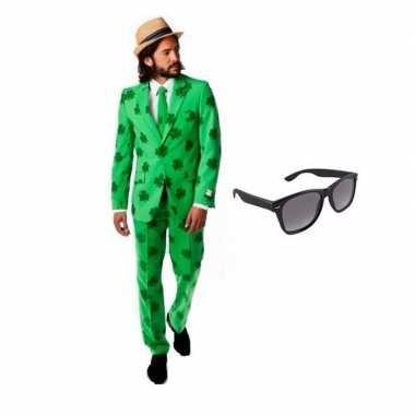 Heren verkleedkleding sint patricks day maat 56 (3xl) met gratis zonn