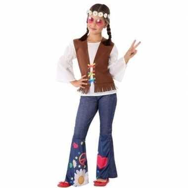 Hippie/flower power verkleed verkleedkleding voor meisjes