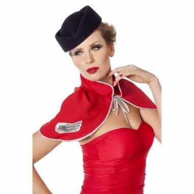 Hoedje voor bij een stewardes verkleedkleding