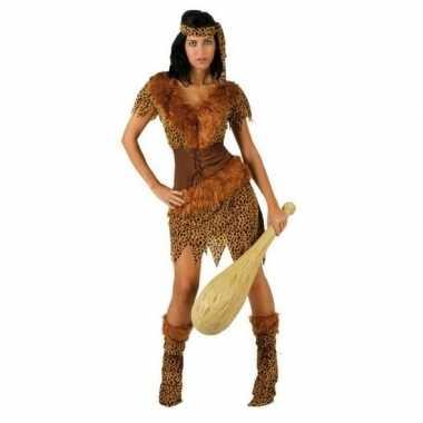 Holbewoonster/cavewoman ayla verkleed verkleedkleding/jurk dames