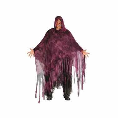 Horror duistere man verkleedkleding paars