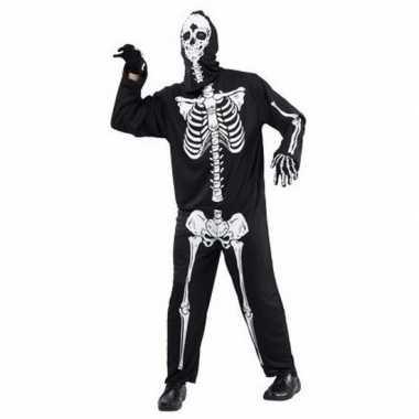 Horror skelet verkleedkleding voor volwassenen