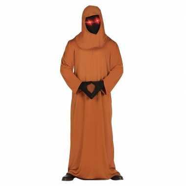 Horror space verkleedkleding met lichtgevende ogen