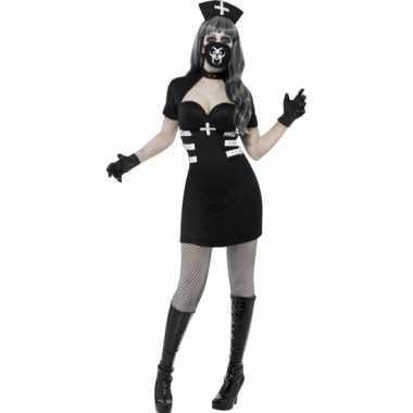 Horror zombie zuster verkleedkleding