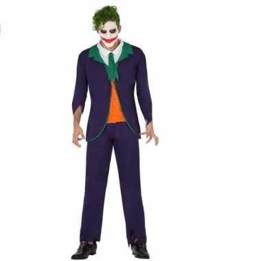 Horrorclown verkleedkleding joker voor heren