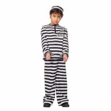 Inbreker verkleedkleding zwart/wit voor kinderen
