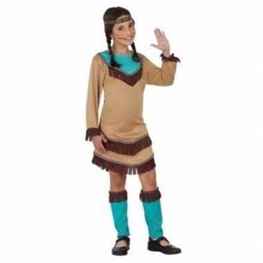 Indiaan chinouk verkleedkleding voor meisjes blauw