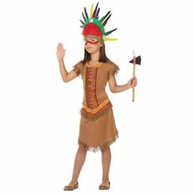 Indiaan/indianen jurk/jurkje verkleed verkleedkleding voor meisjes