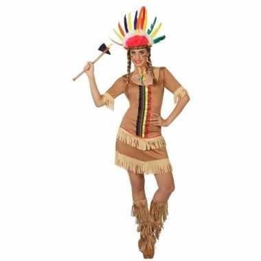 Indianen manipi verkleed jurkje/verkleedkleding voor dames