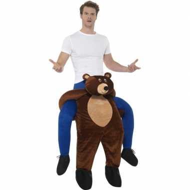 Instap dierenverkleedkleding beer voor volwassenen