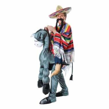 Instap verkleedkleding mexicaan op ezel