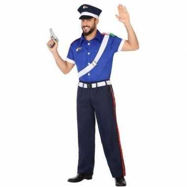 Italiaanse politie verkleed pak/verkleedkleding voor volwassenen