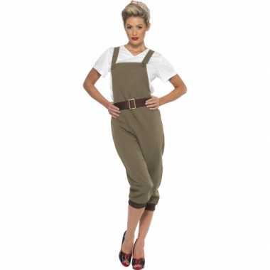 Jaren 40 landgirl verkleedkleding