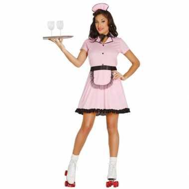Jaren 50 diner girl verkleedkleding