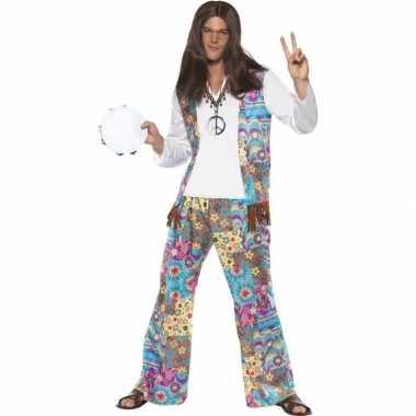 Jaren 60 hippie verkleedkleding groovy voor heren
