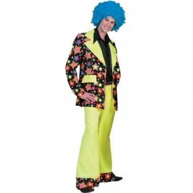 Jaren 70 verkleedkleding met felle kleuren voor heren
