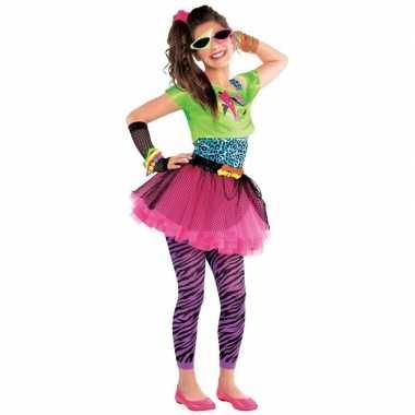 Jaren 80 disco verkleedkleding feestverkleedkleding voor meisjes 10 1